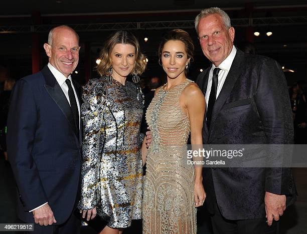 Jonathan Tisch Lizzie Tisch Katia Francesconi and LACMA trustee Steve Tisch attend LACMA 2015 ArtFilm Gala Honoring James Turrell and Alejandro G...