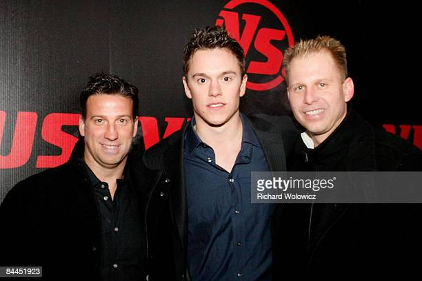 Jonathan Toews of the Chicago Blackhawks arrives with guest for the Versus 2009 NHL AllStar party at Club Opera on January 25 2009 in Montreal Canada