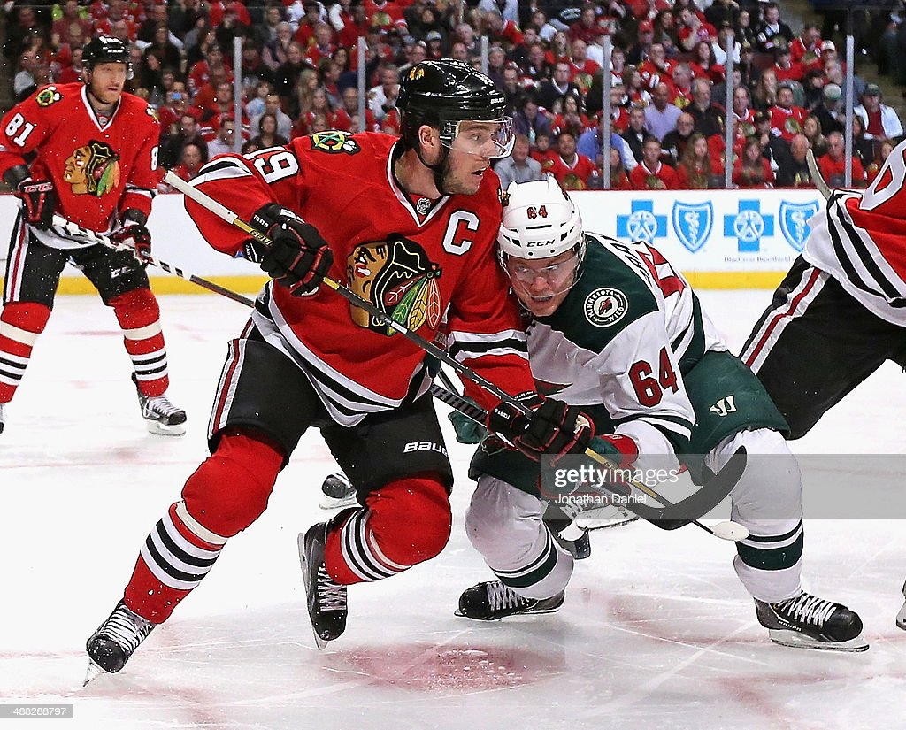 Minnesota Wild v Chicago Blackhawks - Game Two : News Photo