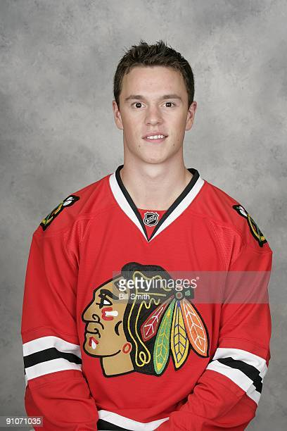 Jonathan Toews of the Chicago Blackhawks poses for his official headshot for the 20092010 NHL season