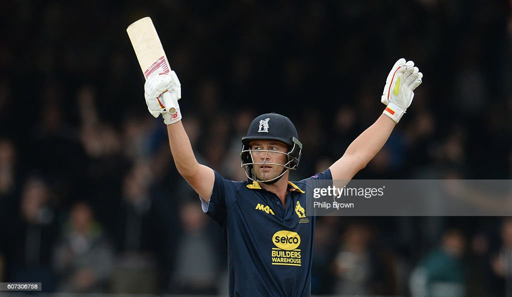 Jonathan Trott after winning the Royal London one-day cup final cricket match between Warwickshire and Surrey at Lord's cricket ground on Sepember 17, 2016 in London, England.