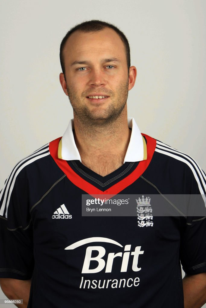 Jonathan Trott of England poses for the team portraits at the ECB Centre at University on October 28, 2009 in Loughbrough,England.