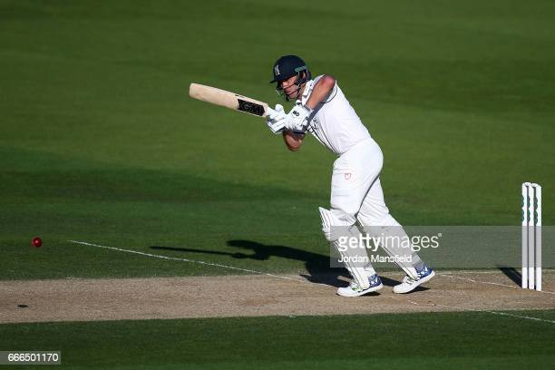 Jonathan Trott of Warwickshire bats during day three of the Specsavers County Championship Division One match between Surrey and Warwickshire at The...