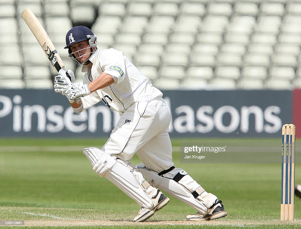 Jonathan Trott of Warwickshire takes a run during the LV County Championship Division One match between Warwickshire and Lancashire at Edgbaston on May 20, 2010 in Birmingham, England.