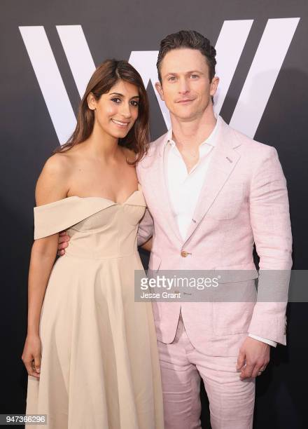Jonathan Tucker and Tara Ahamed Tucker attend the Premiere of HBO's Westworld Season 2 at The Cinerama Dome on April 16 2018 in Los Angeles California