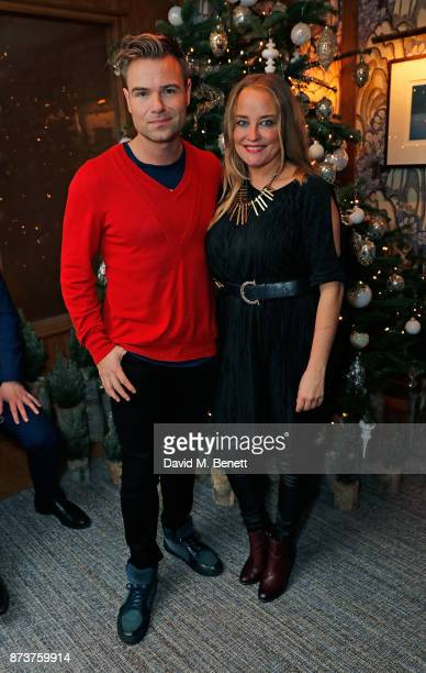 Jonathan Tybel and Erica Bergsmeds attend the launch of The Nordic Winter Garden at Aquavit by McQueens on November 13 2017 in London England
