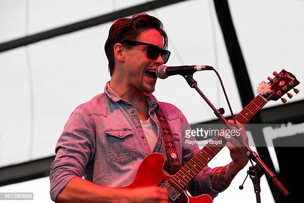 Jonathan Tyler from Dallas rock band Jonathan Tyler The Northern Lights performs on the BMO Harris Bank Stage at the Henry W Maier Festival Park...