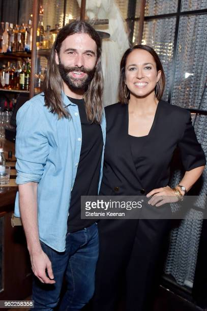 Jonathan Van Ness and Anne Fulenwider attend Marie Claire Celebrates Fifth Annual 'Fresh Faces' in Hollywood with SheaMoisture Simon G and Sam...