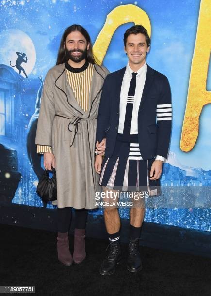 Jonathan Van Ness and Antoni Porowski arrive for Universal Pictures' world premiere of Cats at Alice Tully Hall on December 16 2019 in New York City