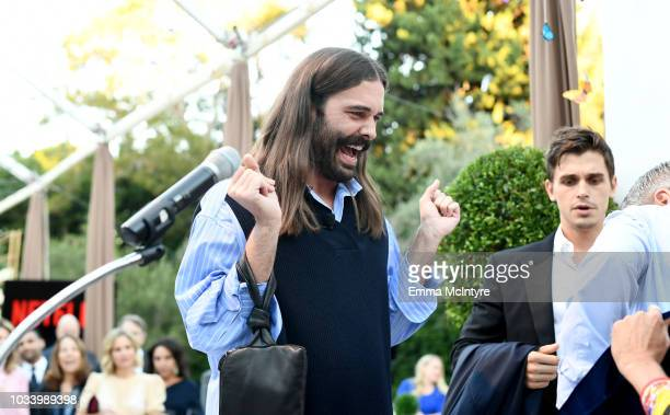 Jonathan Van Ness and Antoni Porowski attend Ted Sarandos' 2018 Annual Netflix Emmy Nominee Toast on September 15 2018 in Los Angeles California