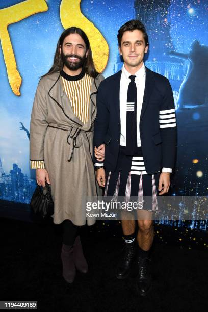 Jonathan Van Ness and Antoni Porowski attend The World Premiere of Cats, presented by Universal Pictures on December 16, 2019 in New York City.