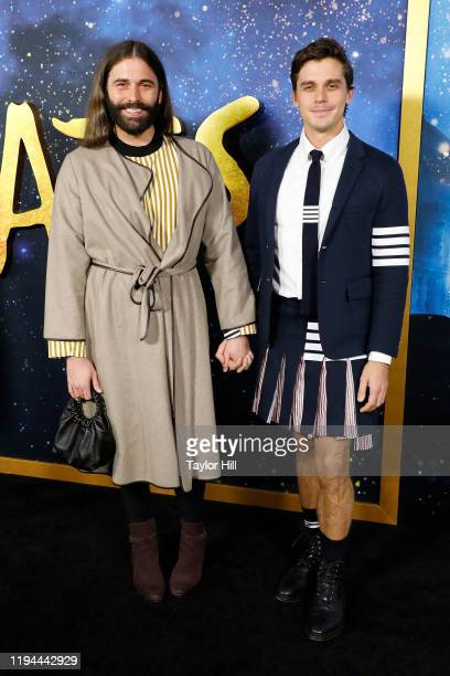 Jonathan Van Ness and Antoni Porowski attend the world premiere of Cats at Alice Tully Hall Lincoln Center on December 16 2019 in New York City