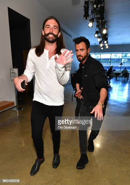 Jonathan Van Ness and Justin Theroux attend Day Two of the Vulture Festival Presented By ATT at Milk Studios on May 20 2018 in New York City