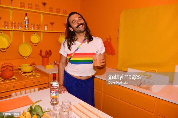 "Jonathan Van Ness and Smirnoff celebrate the LGBTQIA community and ongoing fight for equality with ""House of Pride"" popup on June 27 2019 in New York..."