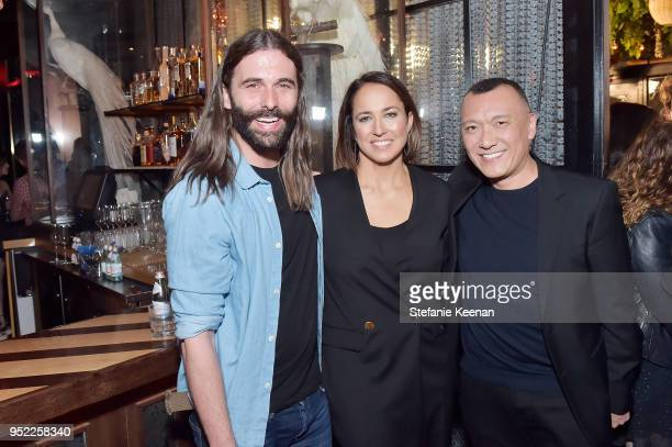 Jonathan Van Ness Anne Fulenwider and Joe Zee attend Marie Claire Celebrates Fifth Annual 'Fresh Faces' in Hollywood with SheaMoisture Simon G and...