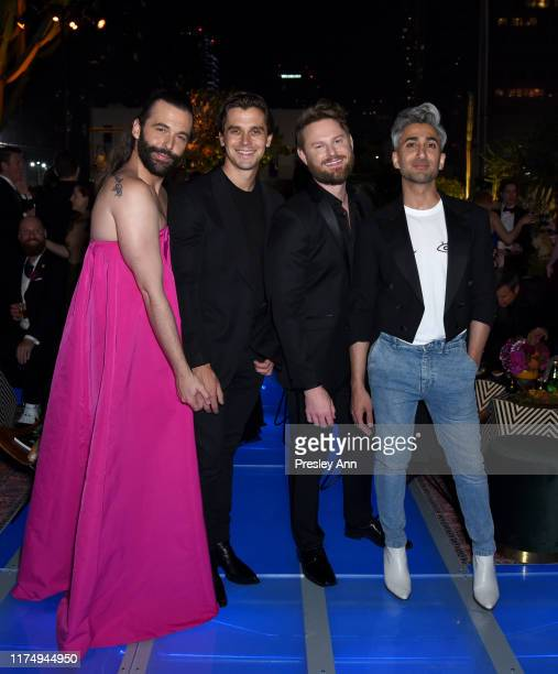 Jonathan Van Ness Antoni Porowski Bobby Berk and Tan France attend the 2019 Netflix Creative Arts Emmy After Party at Hotel Figueroa on September 15...