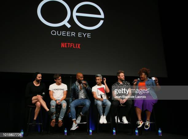 Jonathan Van Ness Antoni Porowski Karamo Brown Tan France Bobby Berk and Nicole Byer attend Netflix's Queer Eye Celebrates 4 Emmy Nominations With...