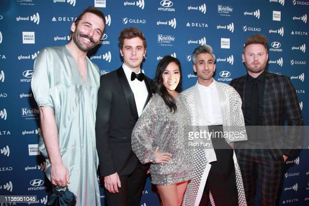 Jonathan Van Ness Antoni Porowski Michelle Kwan Tan France and Bobby Berk attend the 30th Annual GLAAD Media Awards Los Angeles at The Beverly Hilton...