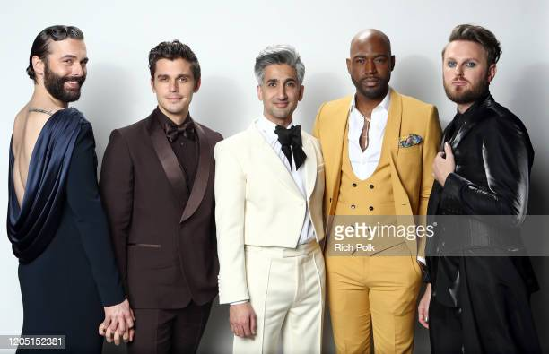 Jonathan Van Ness, Antoni Porowski, Tan France, Karamo Brown and Bobby Berk attend IMDb LIVE Presented By M&M'S At The Elton John AIDS Foundation...
