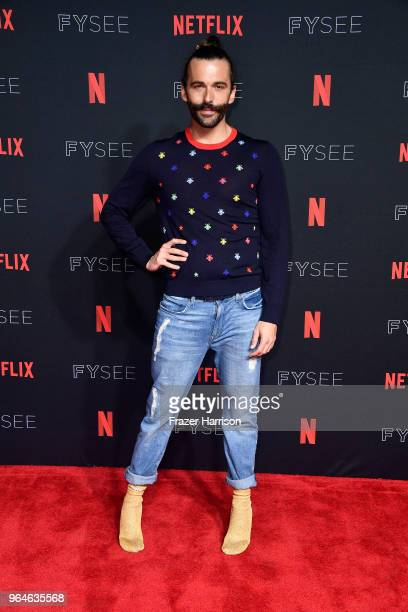 Jonathan Van Ness attends #NETFLIXFYSEE Event For Queer Eye at Netflix FYSEE At Raleigh Studios on May 31 2018 in Los Angeles California