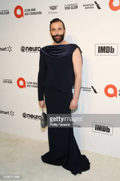 Jonathan Van Ness attends the 28th Annual Elton John AIDS Foundation Academy Awards Viewing Party Sponsored By IMDb, Neuro Drinks And Walmart on...