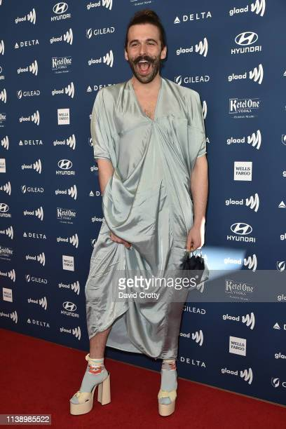 Jonathan Van Ness attends the 30th Annual GLAAD Media Awards at Beverly Hills Hotel on March 28 2019 in Beverly Hills California