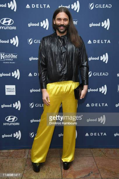 Jonathan Van Ness attends the 30th Annual GLAAD Media Awards New York at New York Hilton Midtown on May 04 2019 in New York City