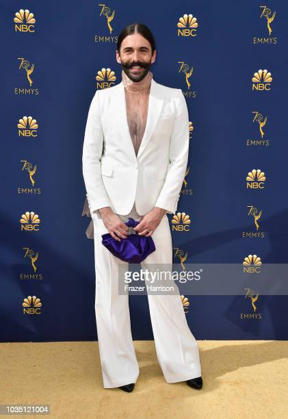 Jonathan Van Ness attends the 70th Emmy Awards at Microsoft Theater on September 17 2018 in Los Angeles California