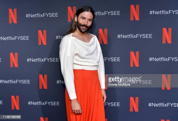 """Jonathan Van Ness attends the Netflix FYSEE """"Queer Eye"""" panel and reception at Raleigh Studios on May 16, 2019 in Los Angeles, California."""