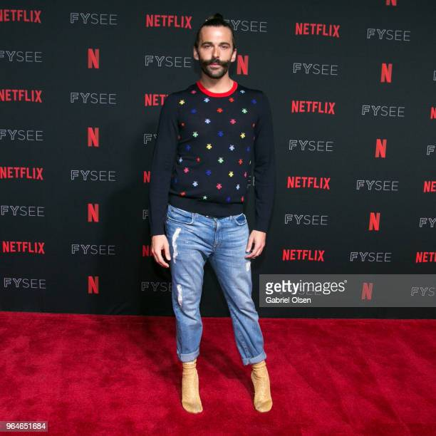 Jonathan Van Ness attends the #NETFLIXFYSEE Event For Queer Eye at Netflix FYSEE At Raleigh Studios on May 31 2018 in Los Angeles California