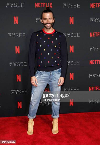 Jonathan Van Ness attends the NETFLIXFYSEE event for 'Queer Eye' at Netflix FYSEE At Raleigh Studios on May 31 2018 in Los Angeles California
