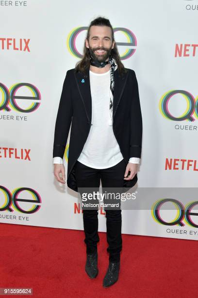 Jonathan Van Ness attends the premiere of Netflix's Queer Eye Season 1 at Pacific Design Center on February 7 2018 in West Hollywood California
