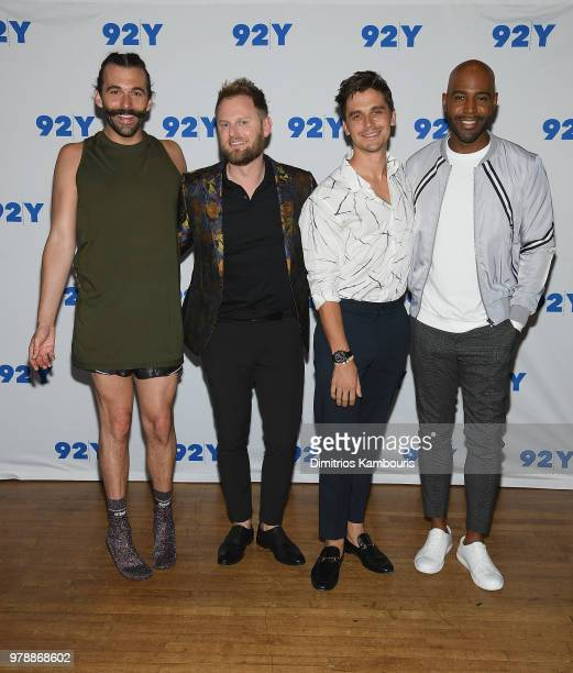 Jonathan Van Ness Bobby Berk Antoni Porowski and Karamo Brown attend Netflix's 'Queer Eye' Cast In Conversation With Teen Vogue at 92nd Street Y on...