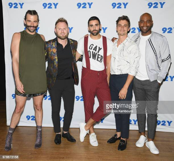 Jonathan Van Ness and Michelle Kwan attend Netflix's 'Queer Eye' Cast In Conversation With Teen Vogue at 92nd Street Y on June 19 2018 in New York...