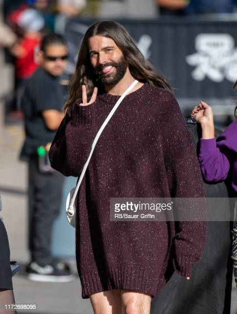 Jonathan Van Ness is seen at 'Jimmy Kimmel Live' on September 30, 2019 in Los Angeles, California.