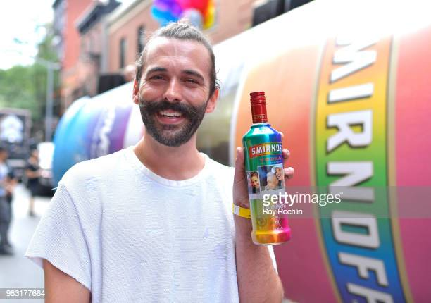 Jonathan Van Ness Queen Bee and her fierce flavor posse join SMIRNOFF at the 2018 Pride March to Celebrate Love in All Its Forms on June 24 2018 in...
