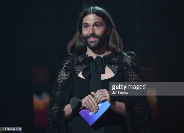 Jonathan Van Ness speaks onstage during the 2019 MTV Video Music Awards at Prudential Center on August 26 2019 in Newark New Jersey