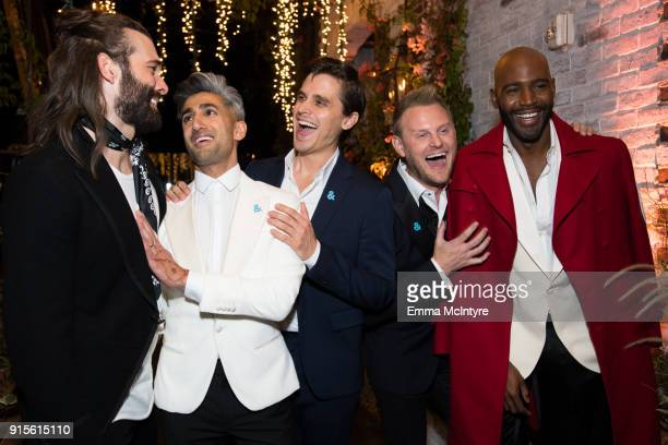 "Jonathan Van Ness, Tan France, Antoni Porowski, Bobby Berk, and Karamo Brown attend the after party for the premiere of Netflix's ""Queer Eye"" Season..."
