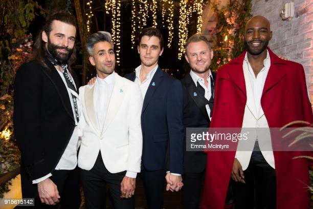 Jonathan Van Ness Tan France Antoni Porowski Bobby Berk and Karamo Brown attend the after party for the premiere of Netflix's 'Queer Eye' Season 1 at...