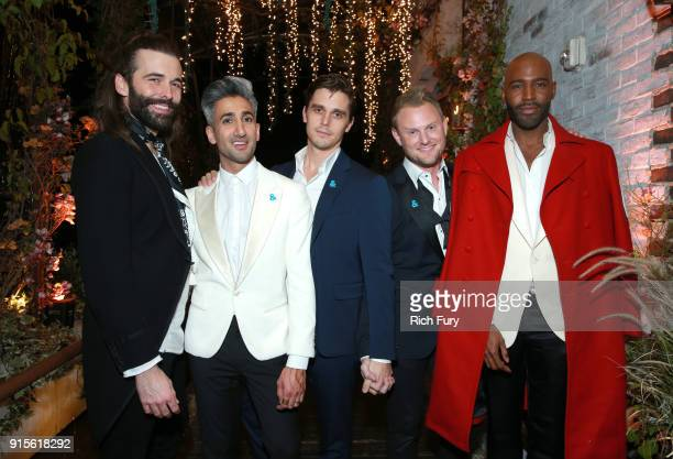 Jonathan Van Ness, Tan France, Antoni Porowski, Bobby Berk, and Karamo Brown attend Netflix's Queer Eye premiere screening and after party on...