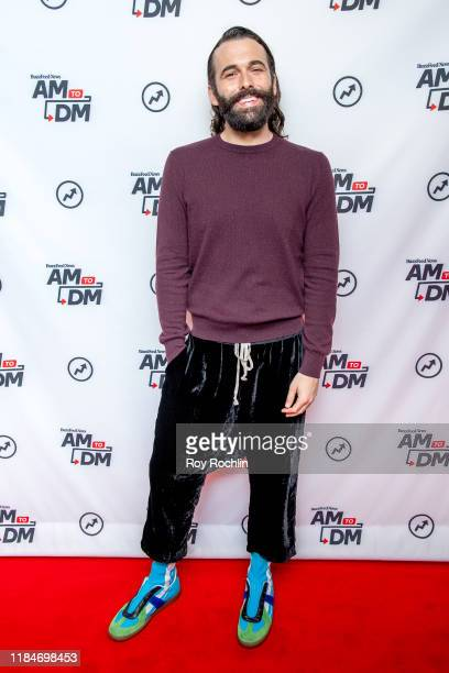 """Jonathan Van Ness visits BuzzFeed's """"AM To DM"""" on October 31, 2019 in New York City."""