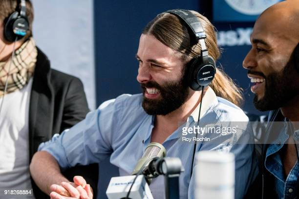 Jonathan Van Ness visits SiriusXM to talk about the 'Queer Eye for the Straight Guy' reboot at SiriusXM Studios on February 14 2018 in New York City