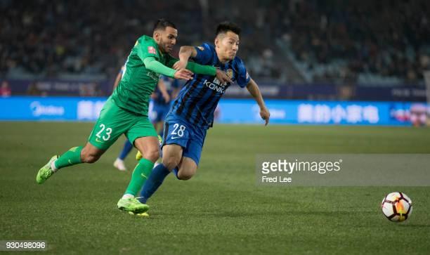 Jonathan Viera Ramos of Beijing Guoan FC in action during the 2018 Chinese Super League match between Jiangsu Suning and Beijing Guoan at Nanjing...