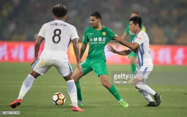 Jonathan Viera Ramos of Beijing Guoan in action during 2018 China Super League match between Beijing Guoan and Guangzhou RF at Beijing Workers...