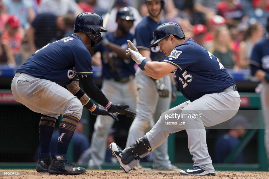 Milwaukee Brewers v Philadelphia Phillies