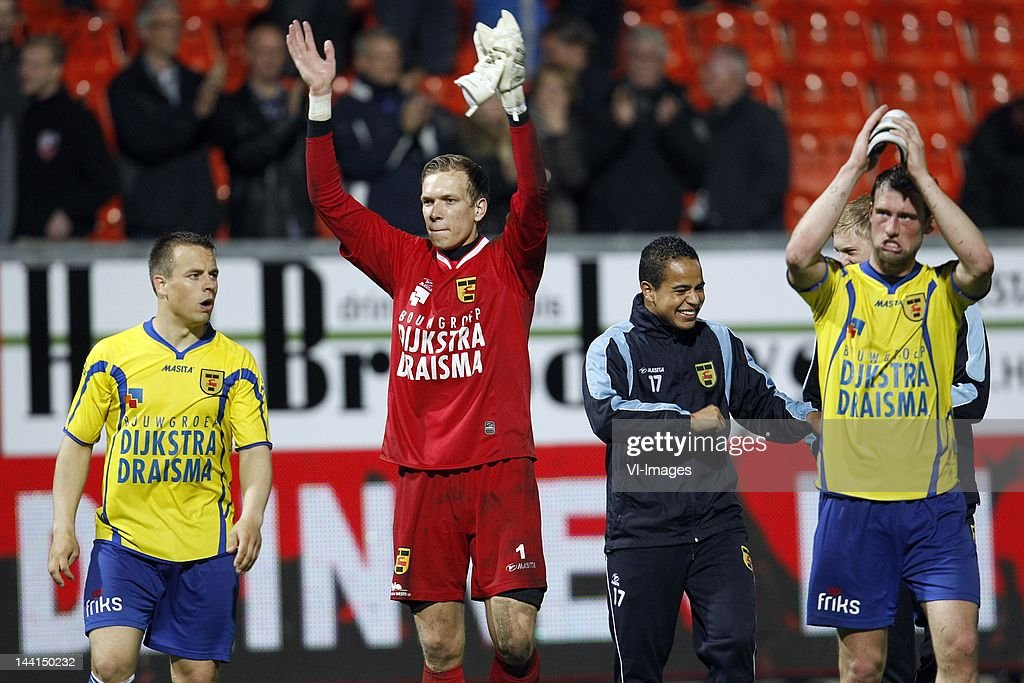Jonathan Vosselman Of Sc Cambuur Goalkeeper Marco Bizot Of Sc News Photo Getty Images