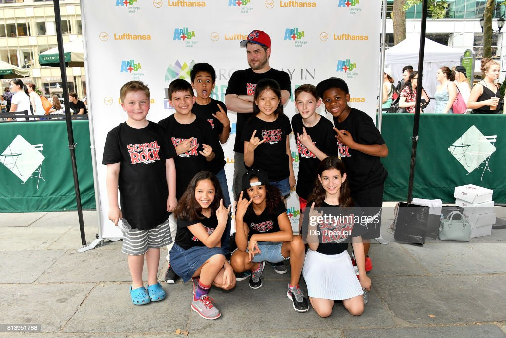 Jonathan Wagner and School of Rock cast members attend 106 7