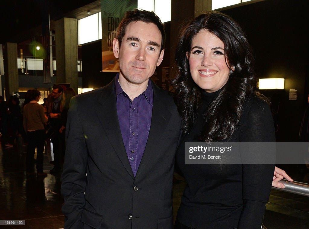 Jonathan Wakeham (L), Co-founder and Programmer of LOCO, and Monica Lewinsky attend a screening of 'Lost In Karastan' during the 4th annual LOCO London Comedy Film Festival at BFI Southbank on January 22, 2015 in London, England.