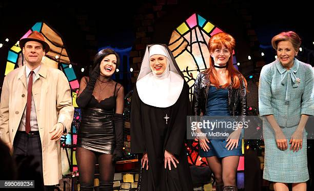 Jonathan Walker Alison Fraser Charles Busch Amy Rutberg Jennifer Van Dyck with the cast of 'The Divine Sister' during a Curtain Call at the SoHo...