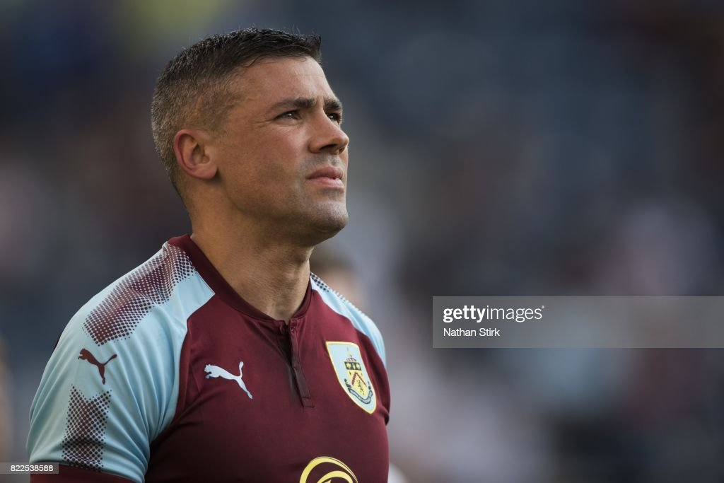 Jonathan Walters of Burnley looks on during the pre season friendly match between Preston North End and Burnley at Deepdale on July 25, 2017 in Preston, England.